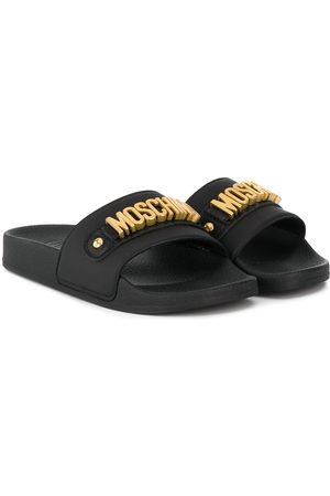 Moschino Sandalen mit Logo-Schild