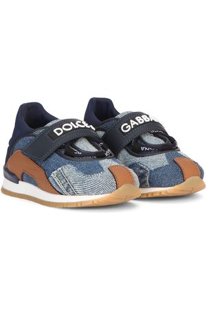 Dolce & Gabbana Kids Cropped - Jeans-Sneakers im Patchwork-Look