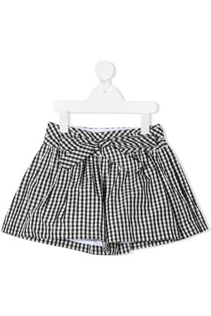MONNALISA Karierte Shorts mit Bindegürtel