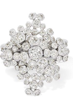 ANNOUSHKA 18kt Marguerite Weißgoldring mit Diamanten