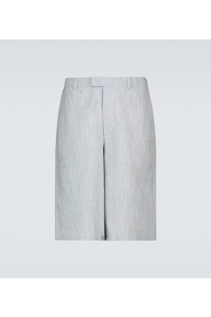 King and Tuckfield Shorts aus Baumwolle und Leinen