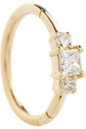 Maria Tash Einzelner Ohrring aus 18kt Gelbgold mit Diamanten