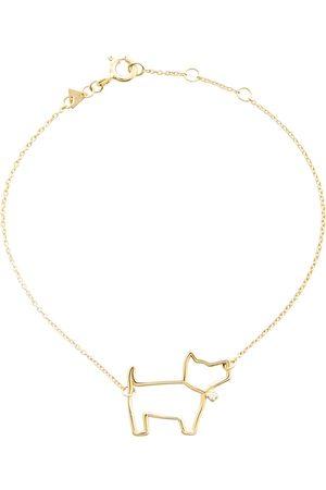 Aliita Armband Perrito Brillante aus 9kt Gelbgold mit Diamant