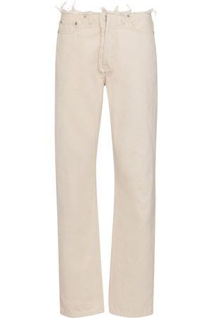 Maison Margiela Mid-Rise Straight Distressed Jeans
