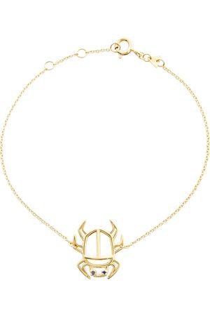 Aliita Armband Escarabjo Zafiro aus 9kt Gelbgold mit Saphiren