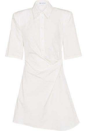 OFF-WHITE Hemdblusenkleid aus Baumwolle