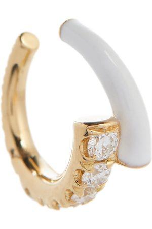 Melissa Kaye Einzelner Ear Cuff Lola aus 18kt Gelbgold mit Diamanten