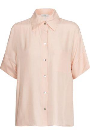 Vince Hemd aus Seidensatin