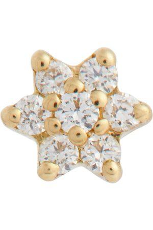 Maria Tash Einzelner Ohrring Diamond Star aus 18kt Gelbgold und Diamanten
