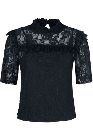 Forplay Damen T-Shirts - 2 in 1 Pure Lace Tee T-Shirt
