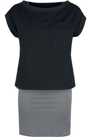 Forplay Damen Freizeitkleider - 2 in 1 Top Tee Dress Kurzes Kleid /