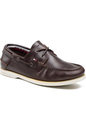 Tommy Hilfiger Classic Leather Boat Shoe FM0FM02735 Cocoa GT6