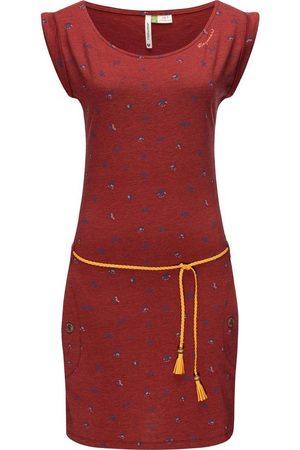 Ragwear Damen Freizeitkleider - Sommerkleid »Tag B Organic II« leichtes Baumwoll Kleid mit Print & Bindeband