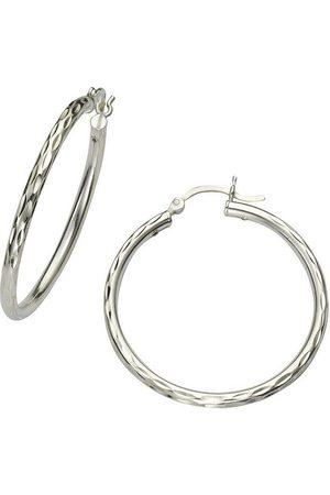 vivance collection Damen Uhren - Paar Creolen »925/- Sterling rhodiniert 24mm«, Creolen