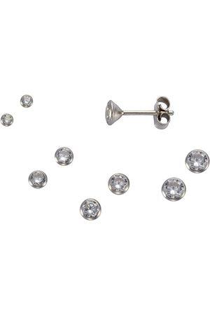 vivance collection Paar Ohrstecker »925/- Sterling Set 3 Paar 3mm«, rhodiniert