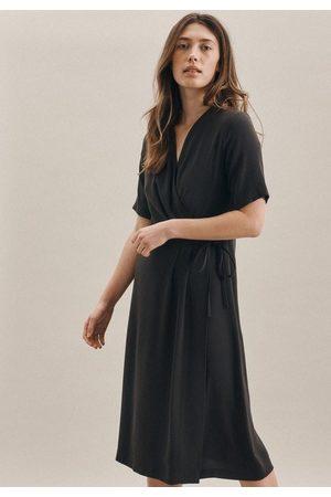 Seidensticker Sommerkleid »Schwarze Rose« Kurzarm V-Neck Uni
