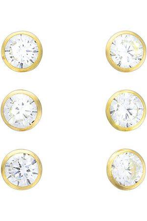 vivance collection Paar Ohrstecker »925/- vergoldet 3er-Set 4mm«, mit Geschenketui