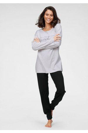 Schiesser Pyjama mit Frontdruck