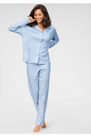 Schiesser Pyjama in klassischer Form mit Alloverdruck