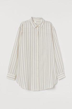 H&M Damen Blusen - Weite Bluse aus Lyocell