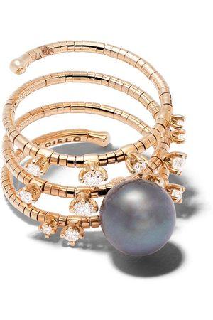 Mattia Cielo Damen Ringe - 18kt Rotgoldring mit Diamanten