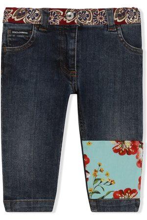 Dolce & Gabbana Skinny - Skinny-Jeans mit Patchwork-Detail