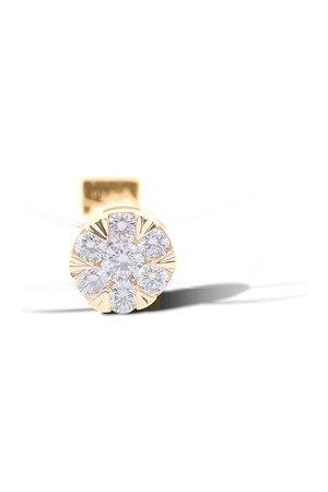 PERSÉE Damen Ringe - Ring Floating Nylon mit sieben Diamanten