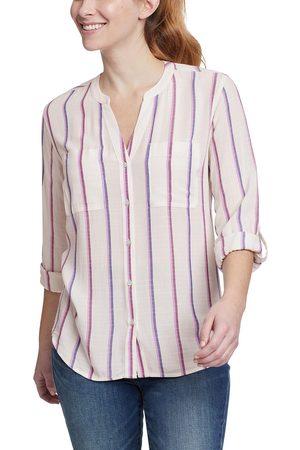 Eddie Bauer Damen Longsleeves - Rivierah Shirt - langarm mit Y-Ausschnitt Damen Natur Gr. XS