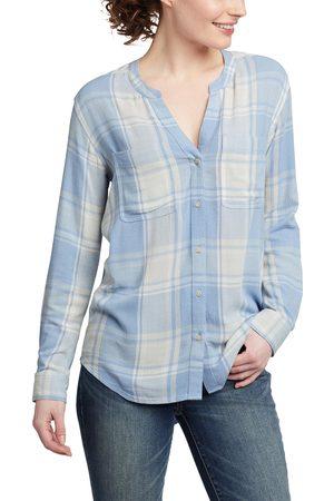 Eddie Bauer Damen Longsleeves - Rivierah Shirt - langarm mit Y-Ausschnitt Damen Gr. XS
