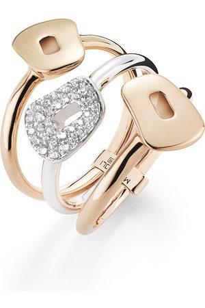 Mattioli Damen Ringe - 18kt Rot- und Weißgoldring mit Diamant