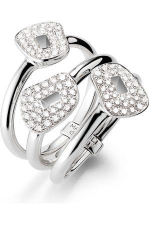Mattioli Damen Ringe - 18kt Weißgoldring mit Diamanten