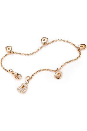 Mattioli Damen Armbänder - 18kt Rotgoldarmband mit Diamantanhänger