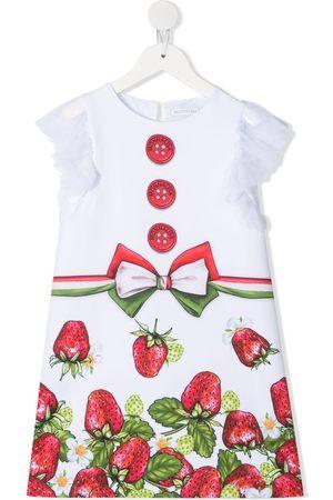 Monnalisa Kleid mit Erdbeeren-Print