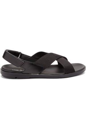 Prada Herren Sandalen - Logo-jacquard Crossover-strap Sandals