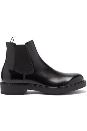 Prada High-shine Leather Chelsea Boots