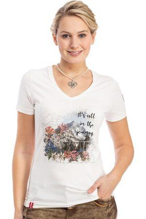 Almgwand Damen T-Shirts, Polos & Longsleeves - T-Shirt HAINZLERALM offwhite