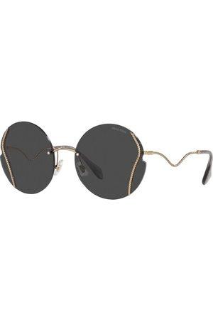 Miu Miu Damen Sonnenbrillen - Sonnenbrille gold