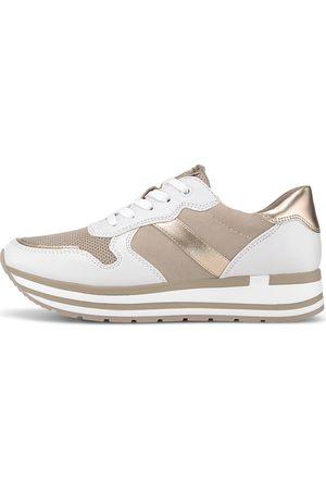 Marco Tozzi Damen Sneakers - Sneaker in taupe, Sneaker für Damen
