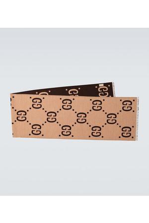 Gucci Jacquard-Schal aus Wolle und Seide