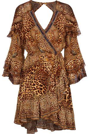Camilla Verziertes Minikleid aus Seide