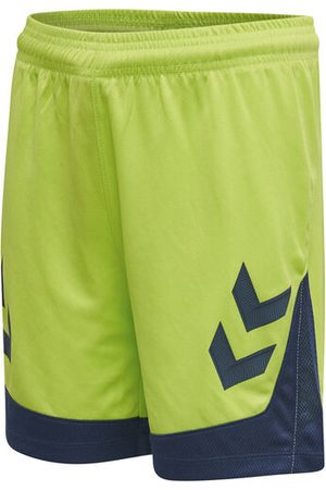 Hummel HmlLEAD POLY SHORTS KIDS, LIME PUNCH, 116