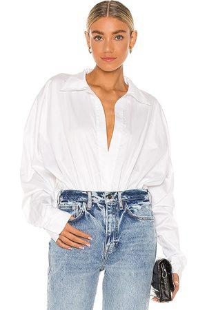 Norma Kamali Oversized Boyfriend NK Shirt Bodysuit in . Size XS, S, M.
