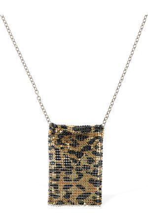 Paco rabanne Bedruckte Halskette Mit Mini-mesh