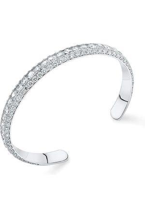 David Morris Damen Armbänder - 18kt Weißgoldarmreif mit Diamanten