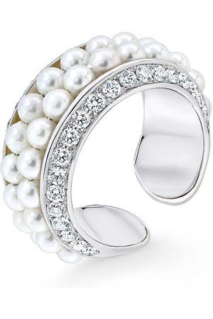 David Morris 18kt Weißgoldring mit Diamanten