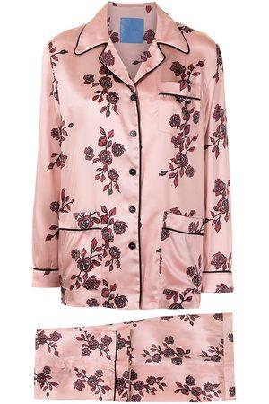 Macgraw Damen Schlafanzüge - Seiden-Pyjama mit Print