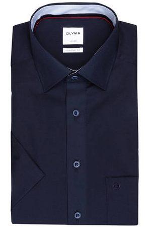 Olymp Herren Business - Halbarm-Hemd Luxor Comfort Fit blau