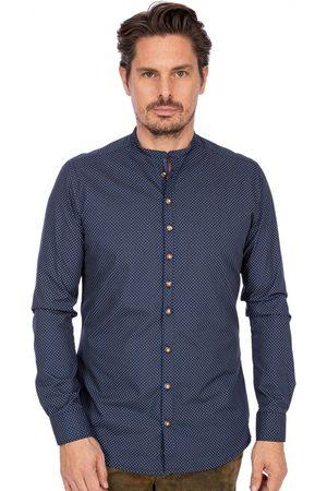Gipfelstürmer Herren Trachtenhemden - Stehkragenhemd BF 420000-3953-45 marine