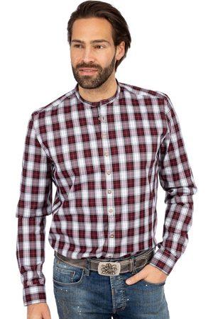 Gipfelstürmer Herren Trachtenhemden - Stehkragenhemd Stretch BF 420000-4007-36 bordeaux