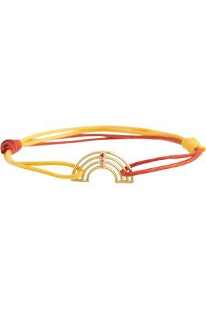 Aliita Armband Arcoiris aus 9kt Gelbgold mit Rubinen und Saphiren